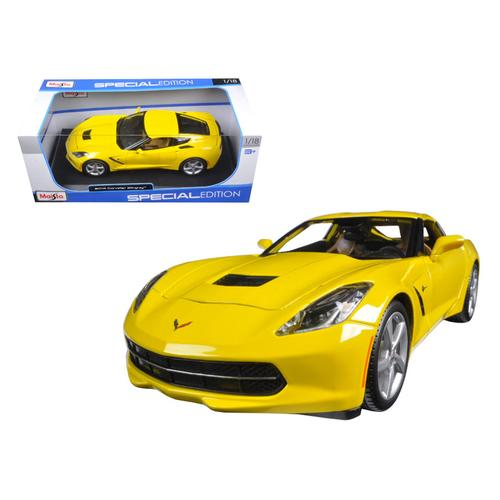 2014 Chevrolet Corvette C7 Stingray Yellow 1/18 Diecast Model Car by Maisto F977-31182y