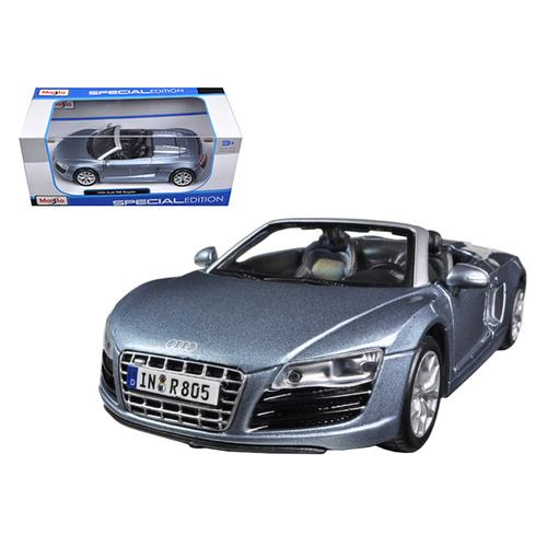 Audi R8 Spyder Blue 1/24 Diecast Car Model by Maisto F977-31204bl