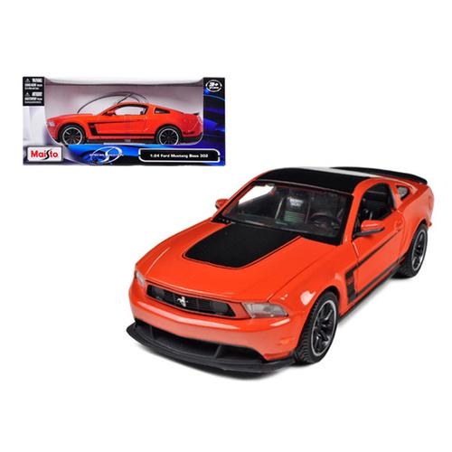 2011 Ford Mustang Boss 302 Orange 1/24 Diecast Model Car by Maisto F977-31269or