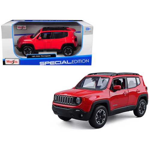 Jeep Renegade Red 1/24 Diecast Model Car by Maisto F977-31282R