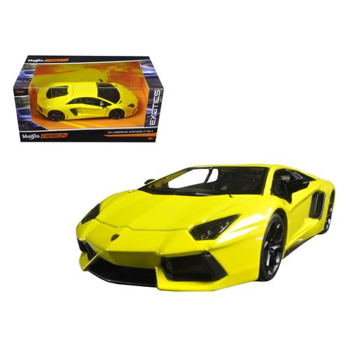 "Lamborghini Aventador LP 700-4 Yellow ""Exotics"" 1/24 Diecast Model Car by Maisto F977-31362y"