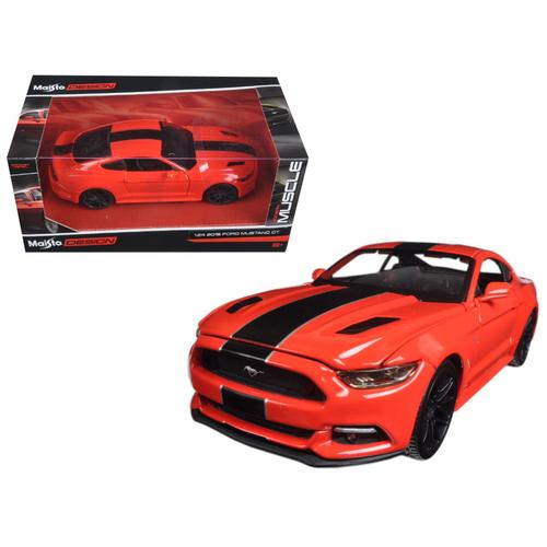 "2015 Ford Mustang GT Red ""Classic Muscle"" 1/24 Diecast Model Car by Maisto F977-31369RD"