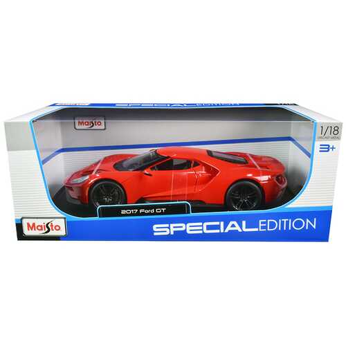 "2017 Ford GT Red with Black Wheels ""Special Edition"" 1/18 Diecast Model Car by Maisto F977-31384rd"