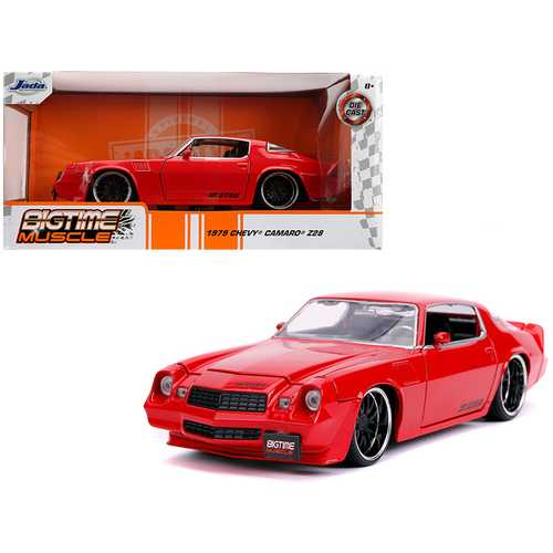 "1979 Chevrolet Camaro Z28 Glossy Red ""Bigtime Muscle"" 1/24 Diecast Model Car by Jada F977-31458"