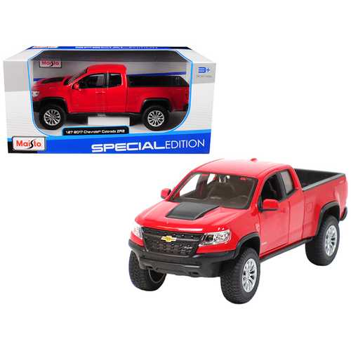 2017 Chevrolet Colorado ZR2 Pickup Truck Red 1/27 Diecast Model Car by Maisto F977-31517R