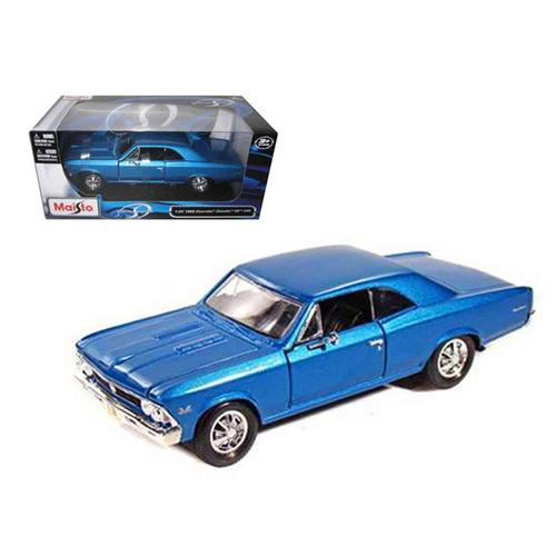 1966 Chevrolet Chevelle SS 396 Blue 1/24 Diecast Model Car by Maisto F977-31960bl