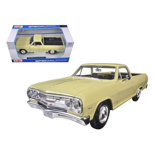 1965 Chevrolet El Camino Yellow 1/25 Diecast Model Car by Maisto F977-31977y