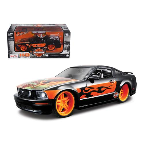 2006 Ford Mustang GT Harley Davidson Black With Eagle 1/24 Diecast Car Model by Maisto F977-32169blk