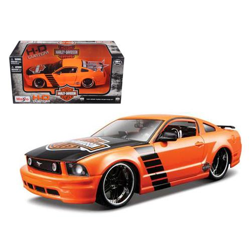 2006 Ford Mustang GT Harley Davidson Orange 1/24 Diecast Model Car by Maisto F977-32169or