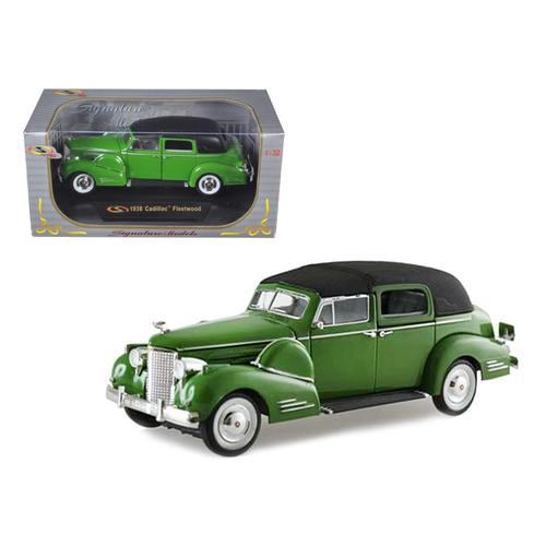 1938 Cadillac Series 90 V16 Fleetwood Green 1/32 Diecast Model Car by Signature Models F977-32340grn