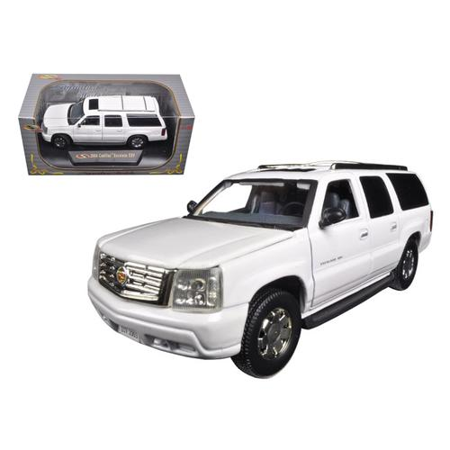 2004 Cadillac Escalade ESV Pearl White 1/32 Diecast Car Model by Signature Models F977-32343w