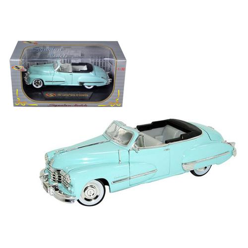1947 Cadillac Series 62 Light Blue Convertible 1/32 Diecast Car Model by Signature Models F977-32349bl