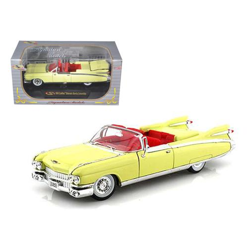 1959 Cadillac Eldorado Biarritz Yellow 1/32 Diecast Car Model by Signature Models F977-32350y