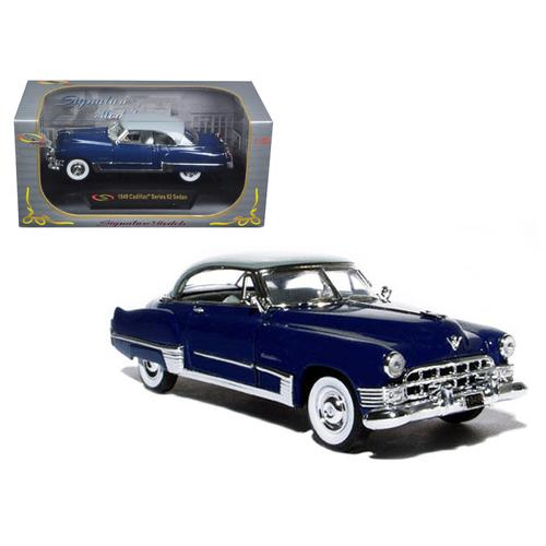 1949 Cadillac Series 62 Sedan Dark Blue 1/32 Diecast Model Car by Signature Models F977-32422DKBL