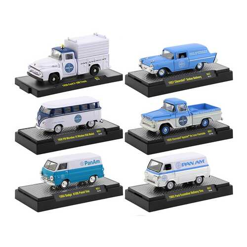 """Auto Trucks"" Set of 6 pieces Release 57 ""Pan American World Airways"" (Pan Am) IN DISPLAY CASES 1/6 F977-32500-57"