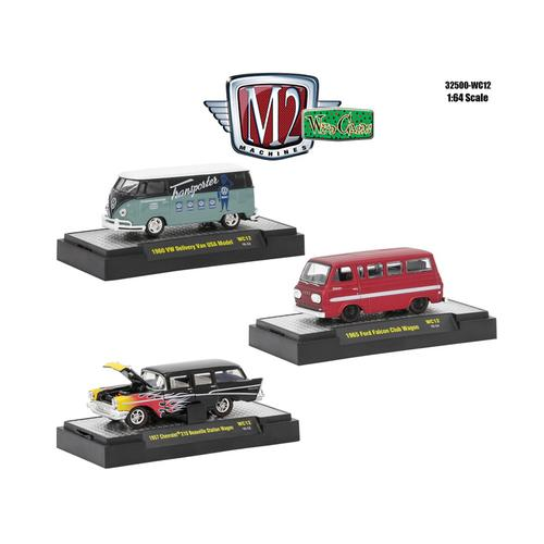 Wild Cards Set of 3 WITH CASES Release WC12 1/64 Diecast Model Cars by M2 Machines F977-32500-WC12