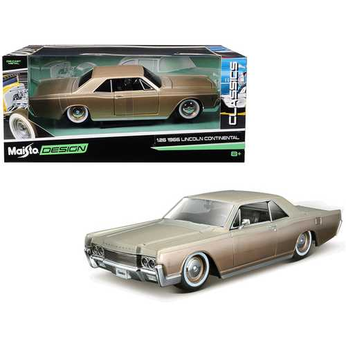 "1966 Lincoln Continental Gold ""Classic Muscle"" 1/26 Diecast Model Car by Maisto F977-32531gld"