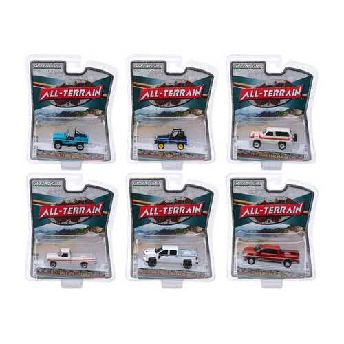 """All Terrain"" Series 8, Set of 6 pieces 1/64 Diecast Model Cars by Greenlight F977-35130SET"
