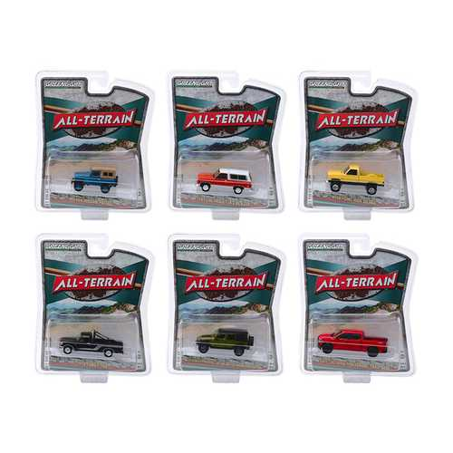 """All Terrain"" Series 9, Set of 6 pieces 1/64 Diecast Model Cars by Greenlight F977-35150SET"