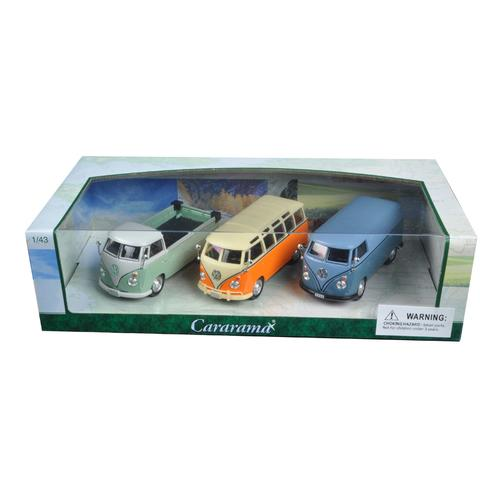 Volkswagen Buses 3 piece Gift Set 1/43 Diecast Model Cars by Cararama F977-35308
