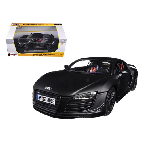 Audi R8 GT Matt Black 1/18 Diecast Car Model by Maisto F977-36190bk