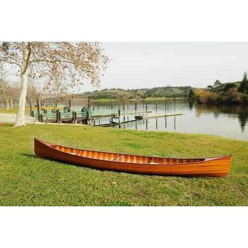 "35.5"" x 216"" x 27"" Wooden Canoe with Ribs N270-364277"