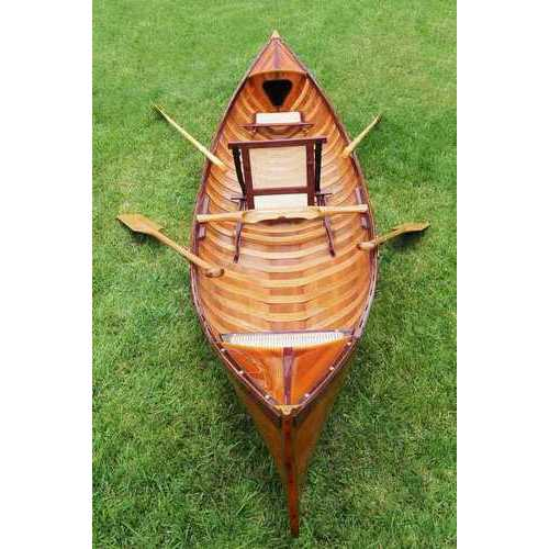 "39.5"" x 190"" x 25.5"" Traditional Wooden Canoe With Ribs N270-364289"