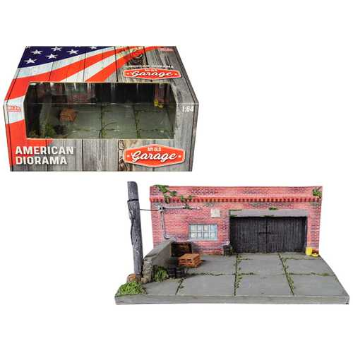 """My Old Garage"" Resin Diorama for 1/64 Scale Models by American Diorama F977-38430"