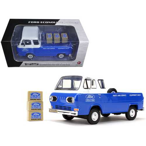 1960's Ford Econoline Pickup Blue with Boxes Ford Tractor Parts & Service 1/25 Diecast Model Car by F977-40-0395