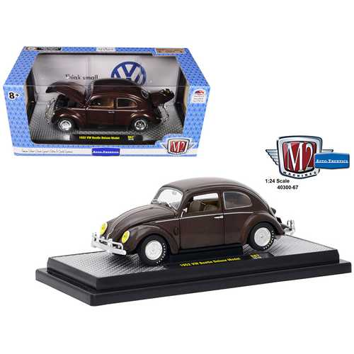 1952 Volkswagen Beetle Deluxe Model Pearl Brown Limited Edition to 5,800 pieces Worldwide 1/24 Diec F977-40300-67B