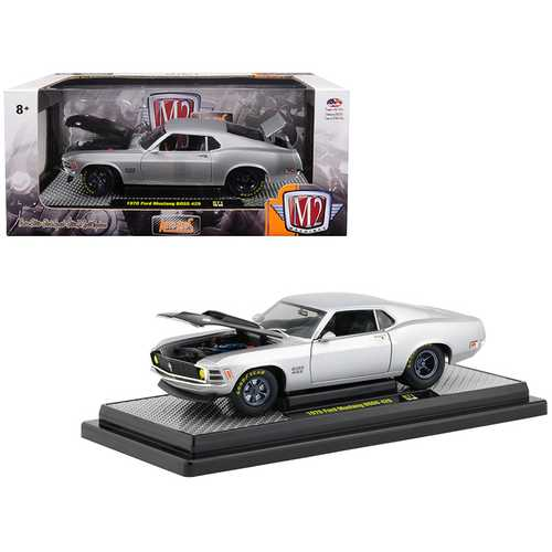 1970 Ford Mustang Boss 429 Matt Silver Limited Edition to 5,880 pieces Worldwide 1/24 Diecast Model F977-40300-71A