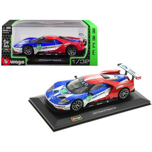 2017 Ford GT Race Car #67 Andy Priaulx / Harry Tincknell Team UK 1/32 Diecast Model Car by Bburago F977-41158
