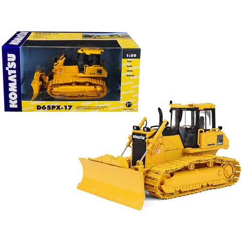 Komatsu D65PX-17 Dozer with Hitch 1/50 Diecast Model by First Gear F977-50-3246