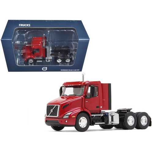 Volvo VNR 300 Day Cab Cherry Bomb Red Metallic 1/50 Diecast Model Car by First Gear F977-50-3365