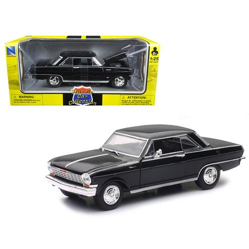 "1964 Chevrolet Nova SS Black ""Muscle Car Collection"" 1/25 Diecast Model Car by New Ray F977-71823B"