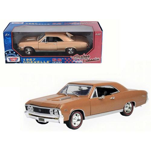 1967 Chevrolet Chevelle SS 396 Golden Brown Timeless Classics 1/18 Diecast Model Car  by Motormax F977-73104-TC-GLD-BRN