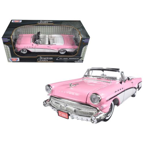 1957 Buick Roadmaster Pink 1/18 Diecast Model Car by Motormax F977-73152AC-PNK