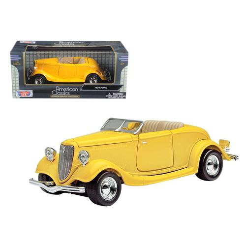 1934 Ford Coupe Yellow 1/24 Diecast Car Model by Motormax F977-73218y