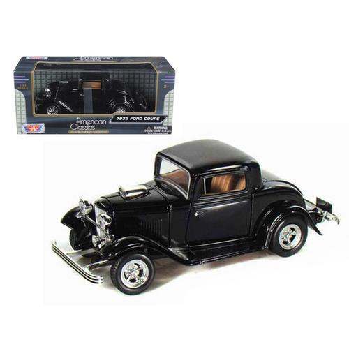1932 Ford Coupe Black 1/24 Diecast Model Car by Motormax F977-73251bk