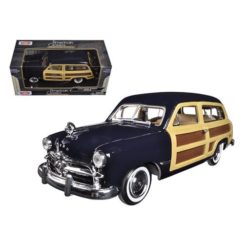 1949 Ford Woody Wagon Dark Blue 1/24 Diecast Model Car by Motormax F977-73260dkbl