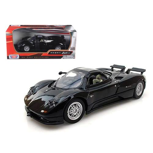Pagani Zonda C12 Black 1/24 Diecast Car Model by Motormax F977-73272bk