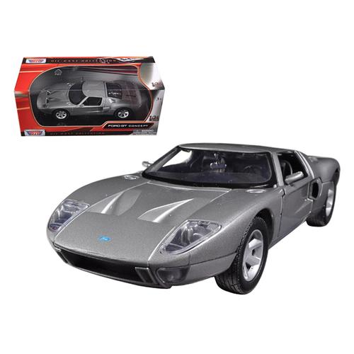 Ford GT Silver 1/24 Diecast Car Model by Motormax F977-73297s