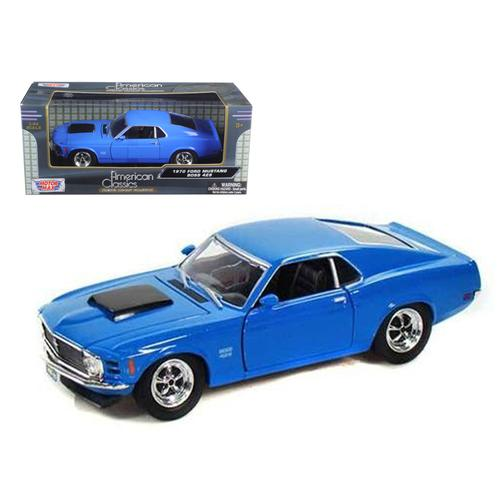 1970 Ford Mustang Boss 429 Blue 1/24 Diecast Model Car by Motormax F977-73303AC/BL