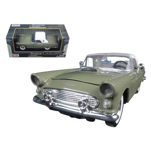 1956 Ford Thunderbird Soft Top Green 1/24 Diecast Car Model by Motormax F977-73312grn