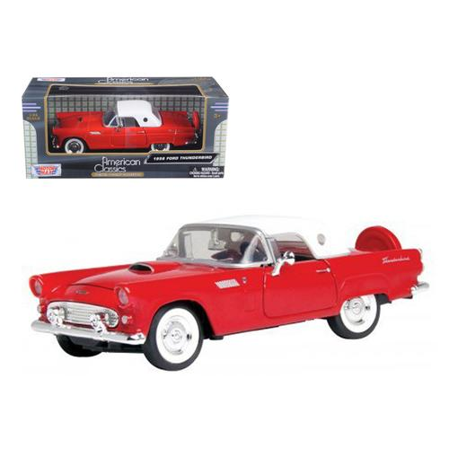 1956 Ford Thunderbird Red 1/24 Diecast Car Model by Motormax F977-73312r