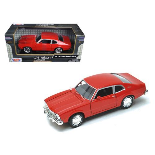 1974 Ford Maverick Red 1/24 Diecast Car Model by Motormax F977-73326R