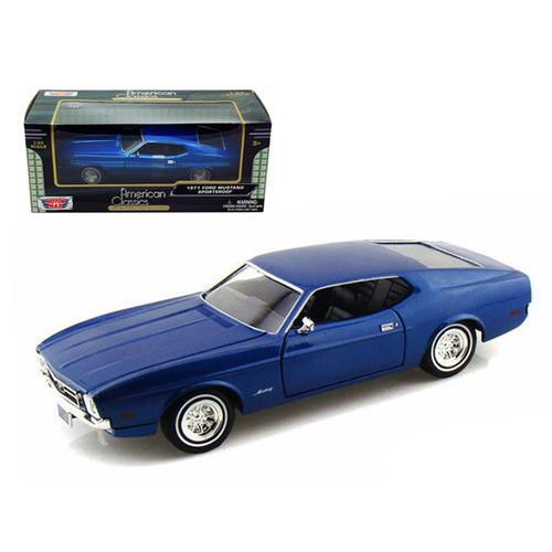 1971 Ford Mustang Sportsroof Blue 1/24 Diecast Model Car by Motormax F977-73327bl