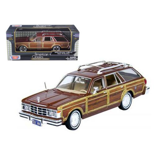 1979 Chrysler Lebaron Town and Country Burgundy 1/24 Diecast Model Car by Motormax F977-73331bur