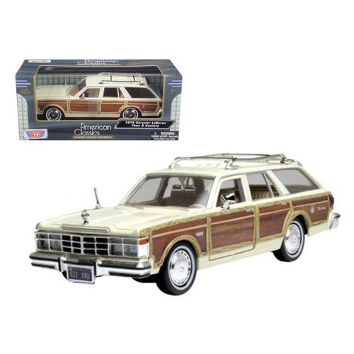 1979 Chrysler Lebaron Town & Country Cream 1/24 Diecast Model Car by Motormax F977-73331crm