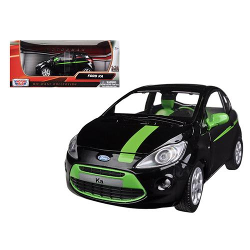 Ford Ka Black and Green 1/24 Diecast Model Car by Motormax F977-73382bk